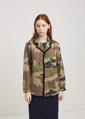 Blend of America Lutz Huelle Vroom Camouflage Cotton Military Jacket Black + Camo