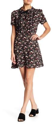 Ten Sixty Sherman Short Sleeve Floral Print Front Tie Dress