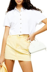 Topshop Boxy Button Through Polo Shirt
