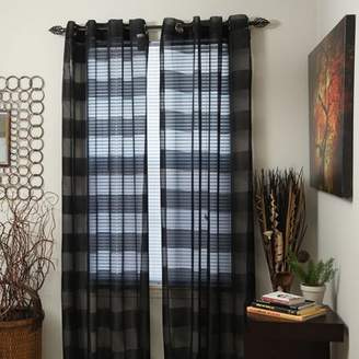 Andover Mills Byrd Striped Semi-Sheer Grommet Single Curtain Panel