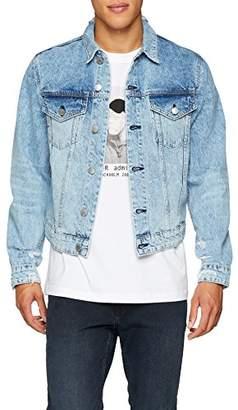 Cheap Monday Men's Legit Denim Jacket, (Pixel Blue), X-Large