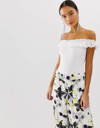 Emory Park off shoulder body with frill detail