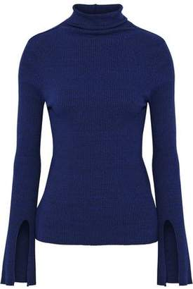 Enza Costa Ribbed Stretch-Jersey Turtleneck Top