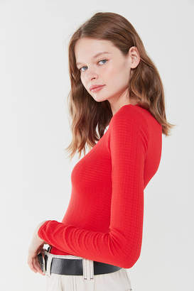 Out From Under Pointelle Long Sleeve Top