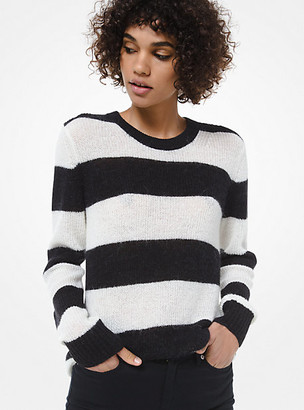 MICHAEL Michael Kors Striped Alpaca Wool-Blend Sweater