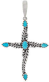 American West Sterling Turquoise Cross Enhancer