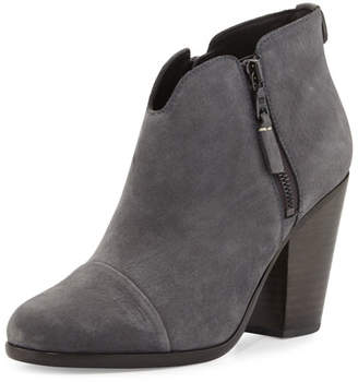Rag & Bone Margot Nubuck Leather Ankle Boot, Charcoal