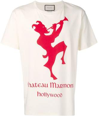 17b2344fdea Gucci T-shirt with Chateau Marmont print