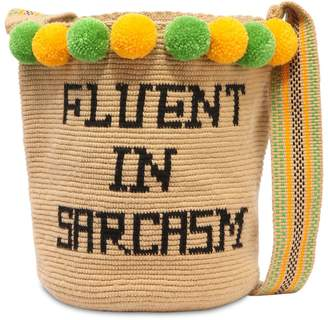 Fluent In Sarcasm Mochila Woven Bag