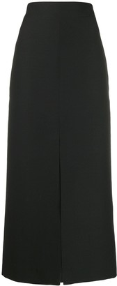 Valentino front slit straight skirt