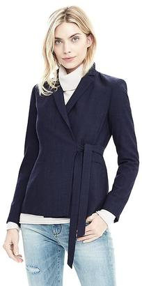 Lightweight Wool Wrapped Blazer $228 thestylecure.com