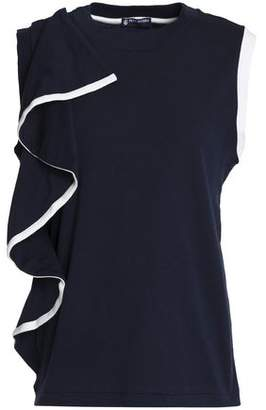 Petit Bateau Ruffled Cotton-Jersey Top