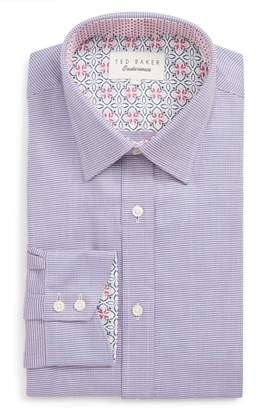 Ted Baker Shell Trim Fit Print Dress Shirt