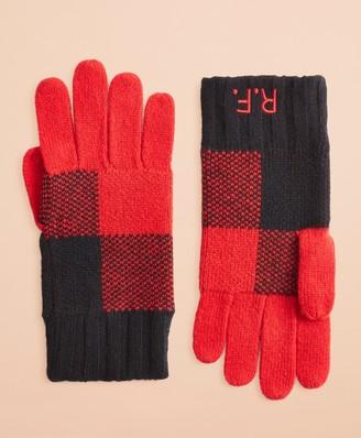 Brooks Brothers Buffalo Plaid Wool-Blend Gloves