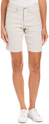 NYDJ Petite Catherine Stone Linen-Blend Short