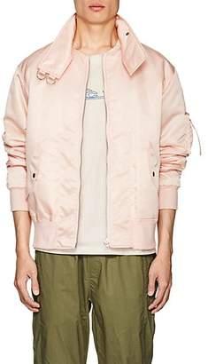 Helmut Lang Men's Oversized-Collar Bomber Jacket - Pink