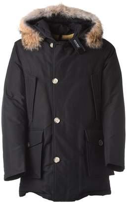 Woolrich Grey Hooded Winter Coat