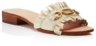 Kate Spade Women's Beau Leather Slide Sandals