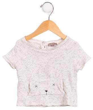 Emile et Ida Girls' Two-Tone Short Sleeve Sweatshirt