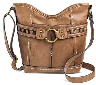 Bolo Women's Faux Leather Crossbody Handbag with Zip Closure - Mocha Brown $34.99 thestylecure.com