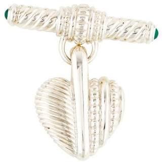 Judith Ripka Dyed Chalcedony Heart Brooch