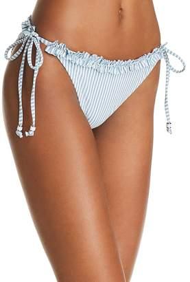 Shoshanna Pinstripe Side Tie Bikini Bottom