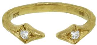 Cathy Waterman Double Arrow Ring - Yellow Gold