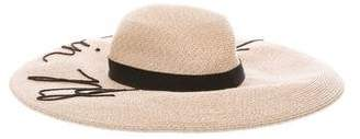 Eugenia Kim Grosgrain-Trimmed Wide-Brim Hat