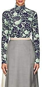 Prada Women's Peonie-Print Stretch-Silk Blouse