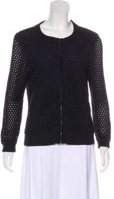 Tory Burch Knit Zip-Up Cardigan