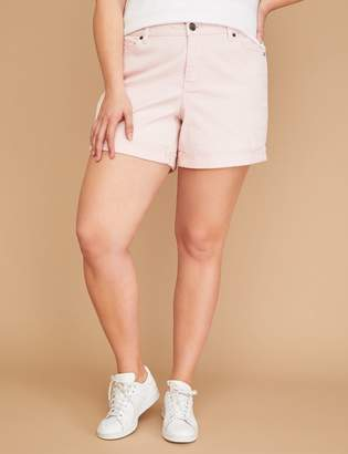 Lane Bryant Girlfriend Denim Short - Lotus Pink