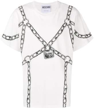 Moschino padlock print T-shirt