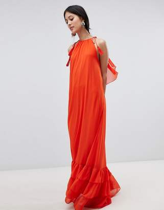 Y.a.s Halter Maxi Dress With Tiered Hem