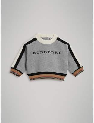 Burberry Embroidered Logo Cotton Sweatshirt