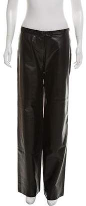 CNC Costume National Wide-Leg Leather Pants