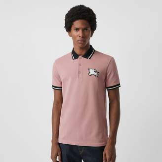 Burberry Tipped Cotton Piqué Polo Shirt