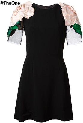 Dolce & Gabbana rose appliqué mini dress $3,045 thestylecure.com