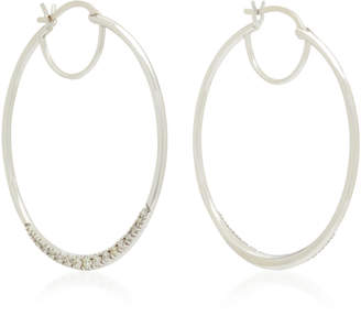 Ila Phebe 14K White Gold Diamond Hoop Earrings