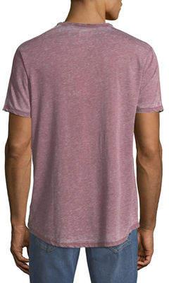 Civil Society Men's Garment Burnout Curve-Hem T-Shirt