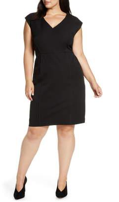 ELOQUII Premier Stretch Sleeveless Sheath Dress