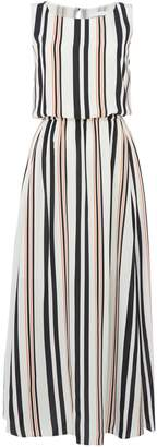 HUGO BOSS Sleeveless silk striped maxi dress