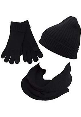 Urban Classics Men's Winter Scarf, Hat & Glove Set,S/M