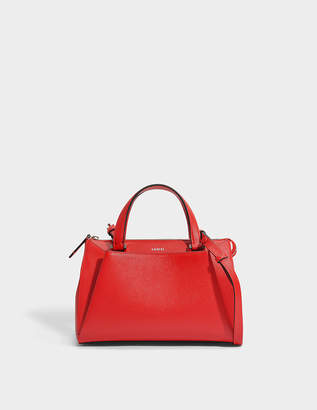 Lancel Lison XS Tote Bag in 1948 Red Grained Leather