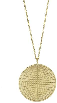 Laura Lee Jewellery Globe Coin Necklace - Yellow Gold