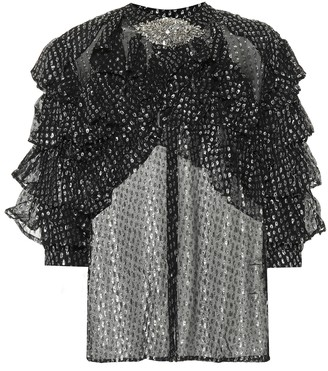 Dodo Bar Or Metallic silk-blend top