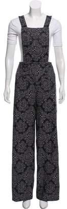 Anna Sui Wide-Leg Jacquard Overalls