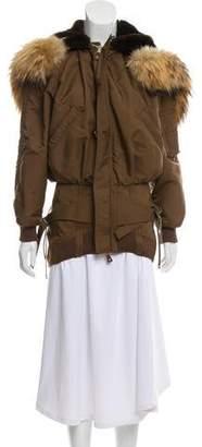 Jean Paul Gaultier Fur-Trimmed Short Coat