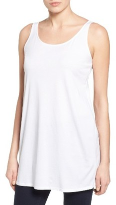 Women's Eileen Fisher Organic Cotton Jersey Long Tank $88 thestylecure.com