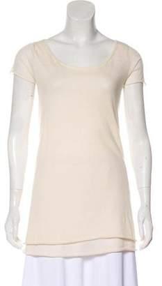 Donna Karan Cashmere Short Sleeve Top