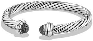 David Yurman Cable Classics Bracelet with Black Diamonds, 7mm